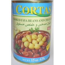 Cortas Foul And Chick Peas 15 Oz