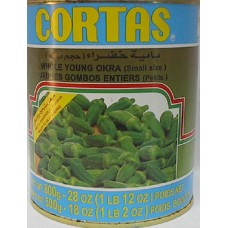 Cortas Green Okra 30 Oz